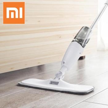 Original Xiaomi Deerma Water Spraying Sweeper Mijia Floor Cleaner Carbon Fiber Dust Mops 360 Rotating Rod 350ml Tank Waxing Mop 1