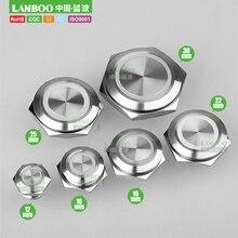 LANBOO фабрика 12mm16mm19mm22mm25mm30mm короткая сенсорная кнопка, Мгновенный Такт переключатель со светодиодом