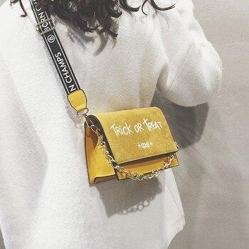 e7964740586b Kisstyle сумки через плечо для женщин 2019 модные маленькие однотонные сумки  на плечо фирменный дизайн лоскут сумка-мессенджер дамские сумочки и .