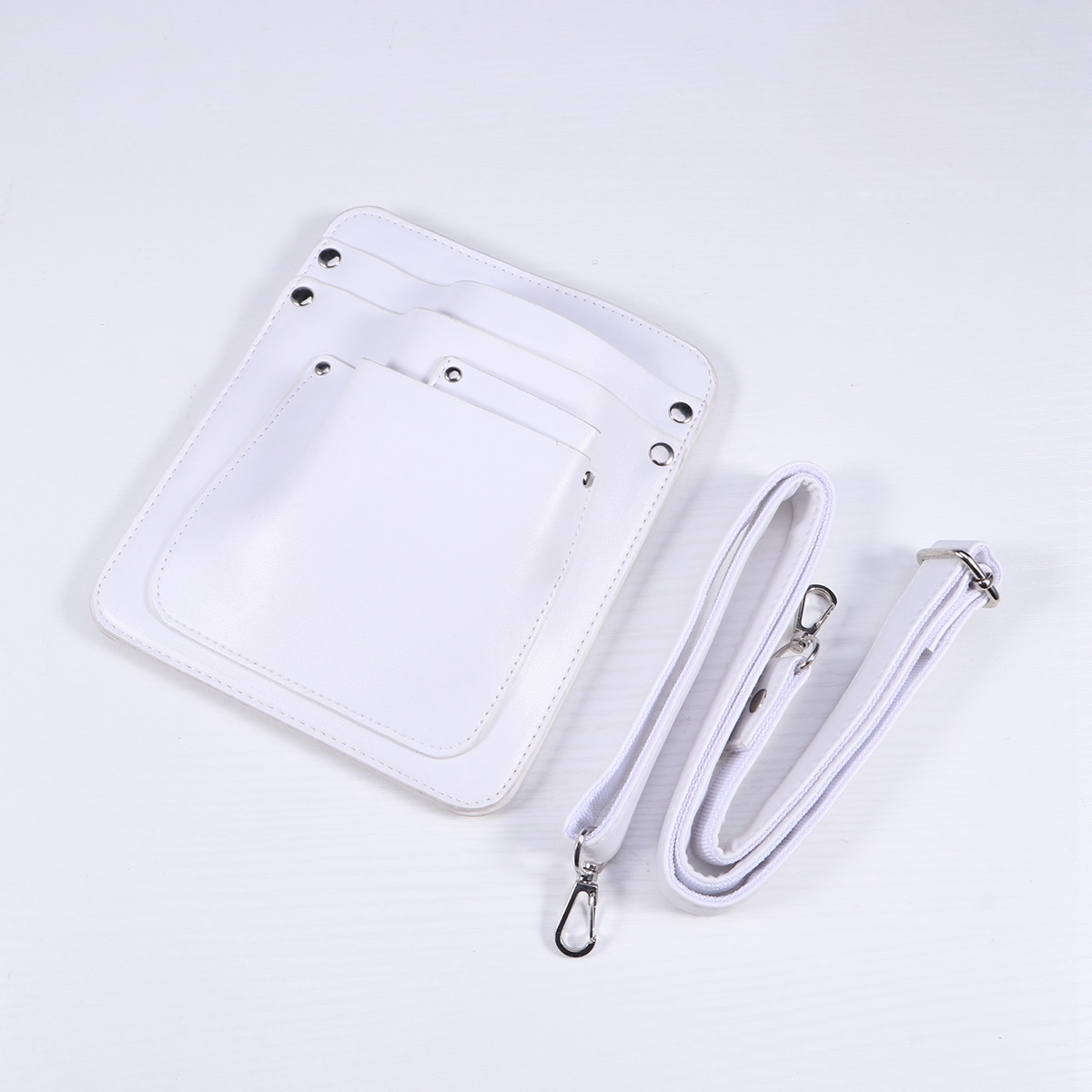Dell'imbracatura La bianco Di Per Dei Multi Disposizione Fiori Pelle Rivetto Piccolo tasca Sacchetto Strumenti Borsa Del In Spalla x7wvx8qUn4