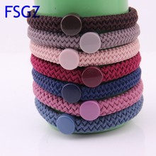 Solid Hair Tie For Women High Elasticity Braided Rubber Band Thick Scrunchy For Girls Ponytail Holders Hair Tie Accessories 2019
