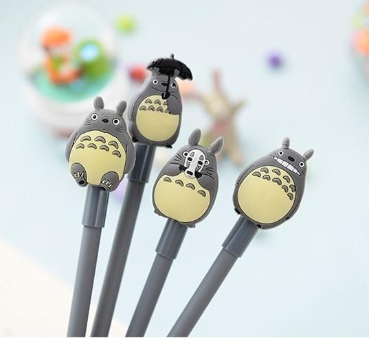 Wholesale 0.5mm Kawaii Cute Cartoon Totoro Gel Pencils Pen Stationery for Children School Students Office Equipment Random Style