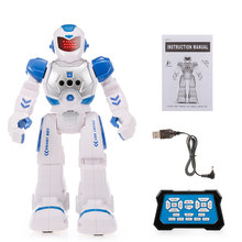 RC Robot Smart Intelligent Robots Educational RC Toy Programmable Gesture Sensor Music Dance Toys for Children Kids Gifts(China)