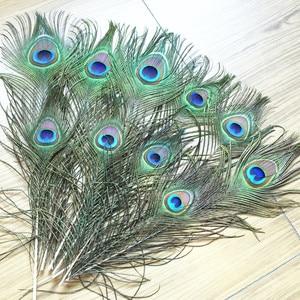 Image 1 - Высококачественные перья павлина, длина 25 500 см, красивые натуральные перья павлина, украшения «сделай сам», 120 шт.