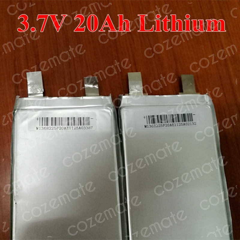 7pcs High Capacity 3 7v 22Ah Lithium Cell 20ah Lipo Polymer 23ah 25Ah for Diy Pack