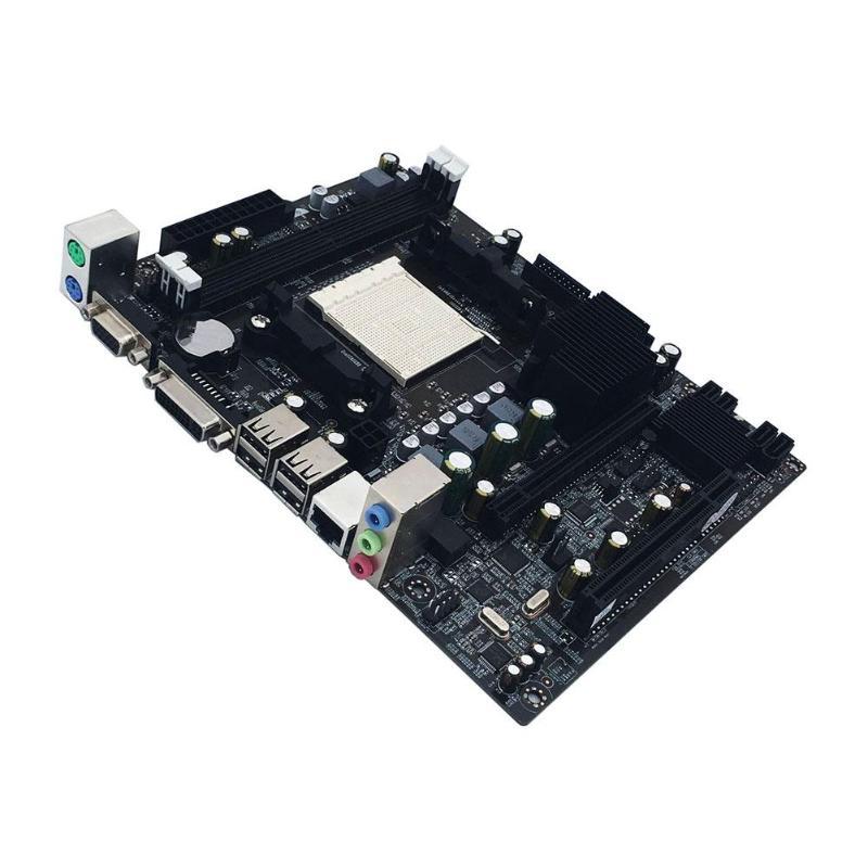 Carte mère d'ordinateur de bureau A780 AM2 2xDDR2 PC carte mère Double canal prise en charge VGA DVI pour AMD AM 2 série 940 broches USB 2.0 IDE