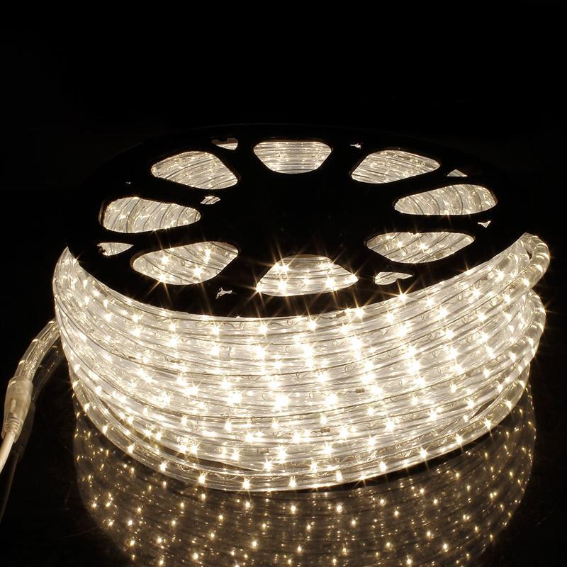 Led Strip 220V Waterproof led tape Outdoor Indoor Christmas Decoration Lights 50M Connector Led Lighting Strips Warm White - 4