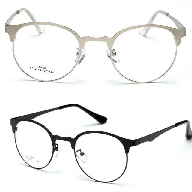 Retro Round Browline Eyeglasses Ultra Thin FRAME CUSTOM MADE OPTICAL ...