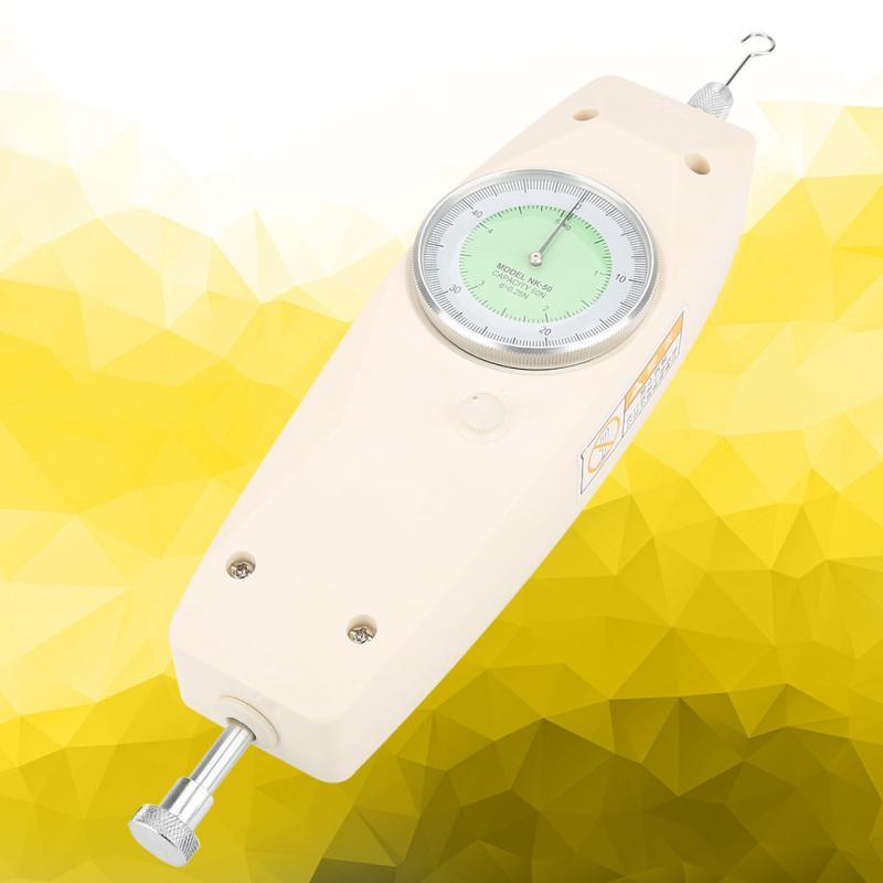 50N Analog Dynamometer Force Measuring Push Pull Force Gauge Meter New