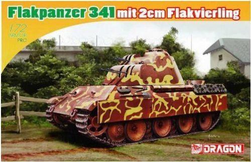 Dragon 7487  1/72  Flakpanzer 341 mit 2cm Flakvierling Model kit