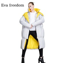 2018 Winter down jacket women hooded womens brands fashion coat winter oversize 18068