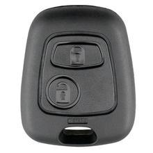 2 кнопки Uncut пустой клинок пульт дистанционного управления авто брелок в виде ракушки чехол Замена для peugeot 206 Авто ключевой чехол