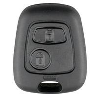 2 botões sem corte lâmina em branco remoto carro chave fob escudo caso substituição para peugeot 206 caso chave de automóvel