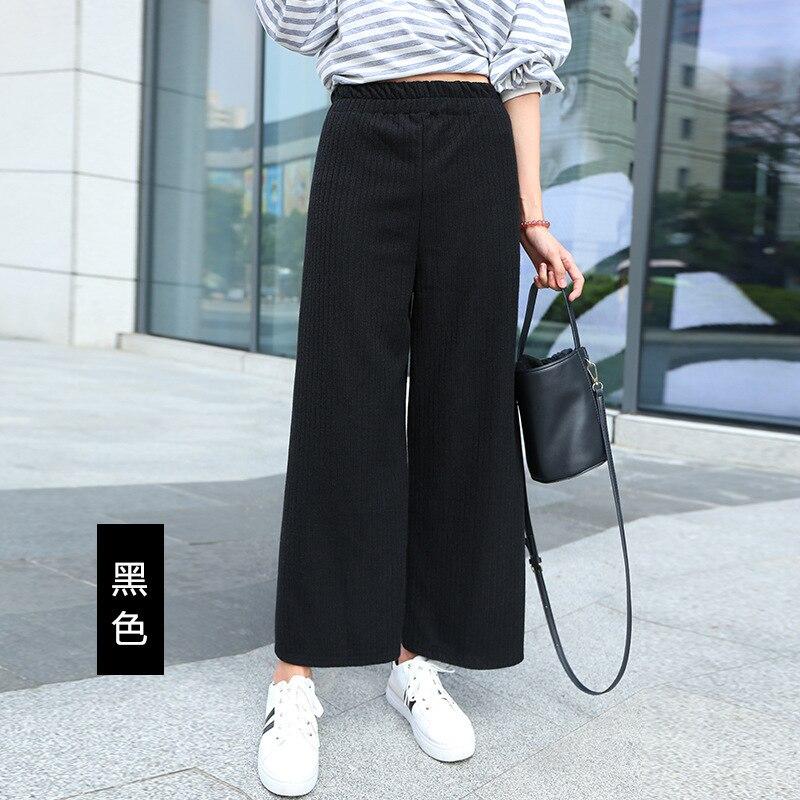 A FAN LANG New Women Autumn Winter Woolen Ankle Length Casual Pants Loose Sweat Pants Trousers Streetwear Woman's Wide Leg Pants 6