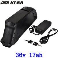 EUA UE NENHUM imposto 36 v 17AH 36 v 500 w bicicleta Elétrica da bateria com Porta USB Use Panasonic 3400 mah carregador de celular com BMS + 42 15A v 2A