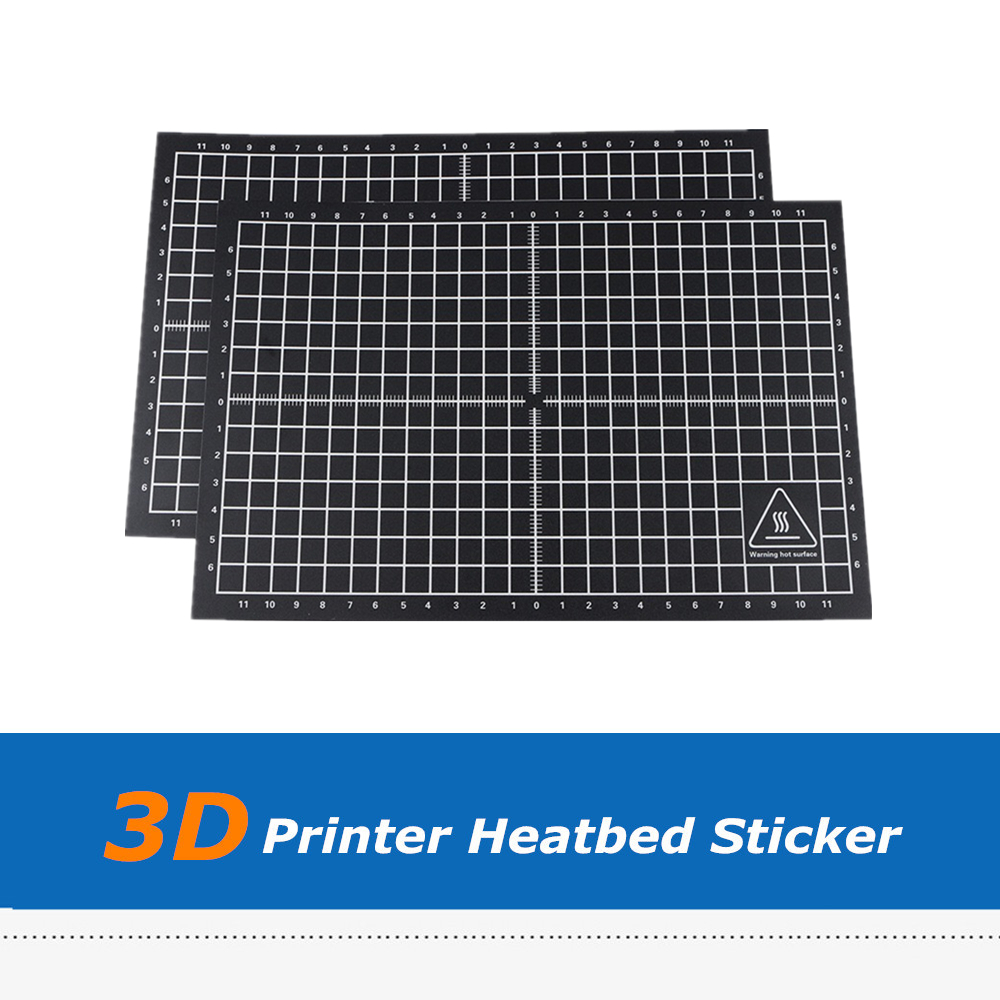2pcs 300*200mm 3D Printer Parts Black <font><b>Heatbed</b></font> Sticker Coordinate Printed Hot Bed Surface Sticker for 3D Printer Platform Film image