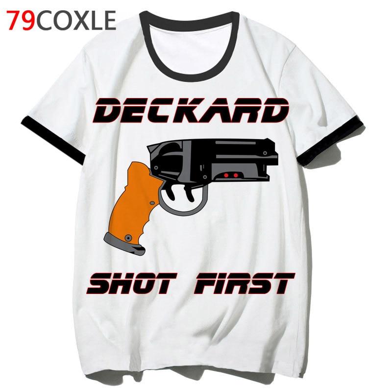 Blade Runner Deckard T Shirt Men Tshirt Clothing Top Tee T-shirt Male Funny School Streetwear Hip For Hop Harajuku 2019 F2100