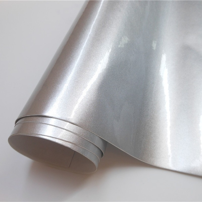 Super Gloss Silver Glossy Candy Vinyl Wrap Film Wrapping Foil Car Sticker Sheet For Motor Computer Furniture Auto Graphic(China)