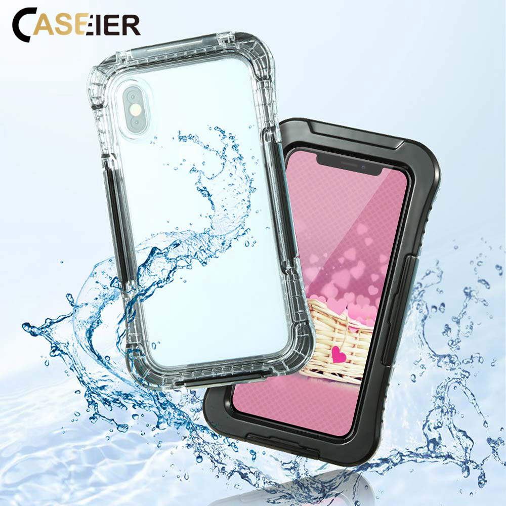 CASEIER Waterproof Phone Bag Case For iPhone X XR 7 8 Waterproof Protector Case For iPhone 6 6S 7 Underwater Photography Pouch