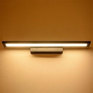 Image 5 - Nowoczesna minimalistyczna lampa ścienna LED lustro łazienkowe kinkiet ścienny 5W 8W 11W szafka z lustrem light AC85 265V