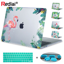 Redlai Plastic Print Hard Case Cover For Macbook New 12 Pro 13 15 Touch bar A1706 Air 13 Pro Retina 13 15 Flamingos Laptop Case starry night oil painting sleeve for air 11 12 13 pro 13 15 retina crystal clear hard back cover protective case touch bar a1706