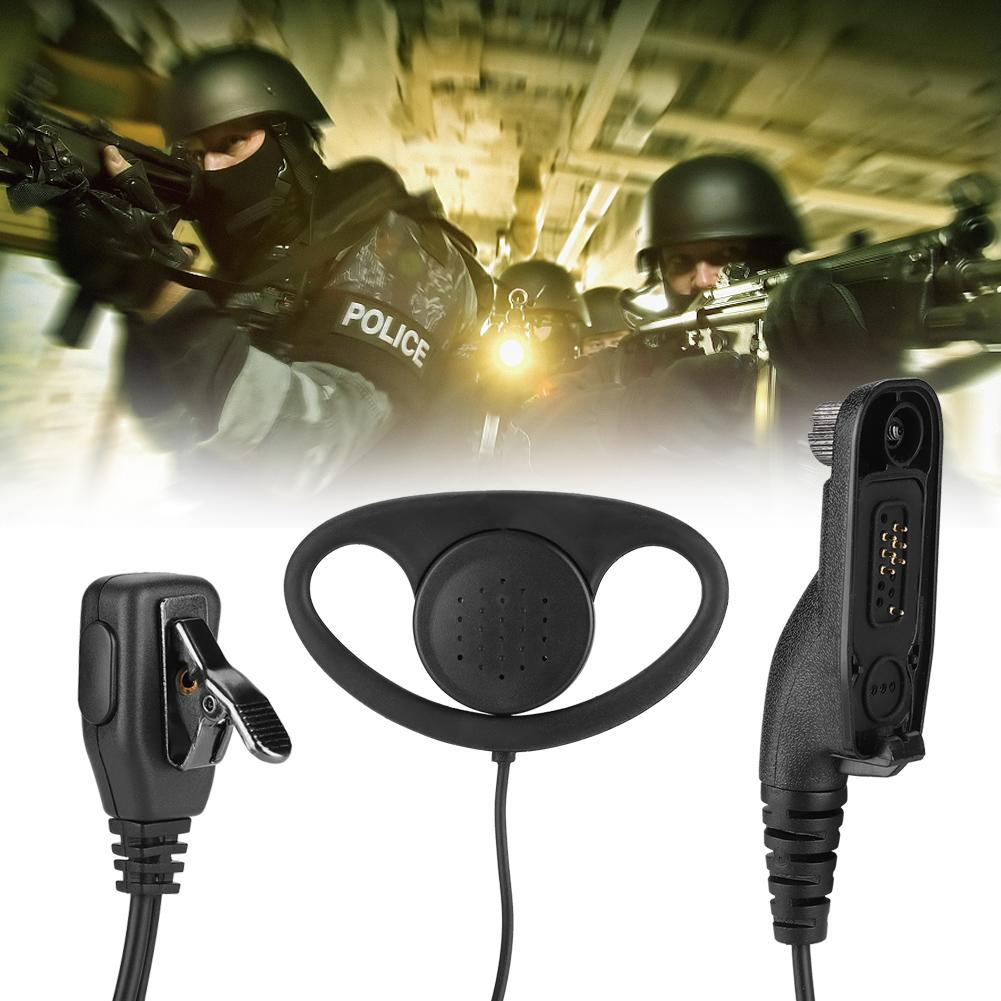 Headset Earpiece MIC D Shape for MOTOROLA Radio XPR6380 XPR6580 XPR 6300 6500