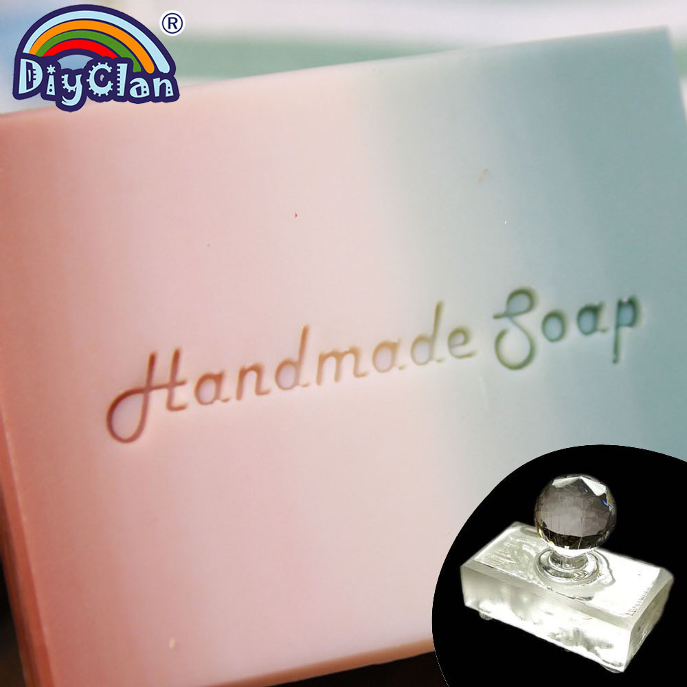 Transparent Handmade Soap Making Stamp Natural Clear Diy Natural Soap Making Chapter With Handle Custom