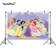 SeekPro ויניל נסיכות הסינדרלה יום הולדת באנר רקע צילום מודפס מקצועי מקורה צילום סטודיו תפאורות