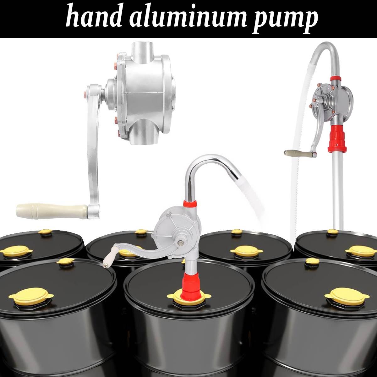 30L/M en aluminium tenu dans la main pour la pompe Diesel mazout essence transfert Auto voiture gaz eau pompes d'aspiration rotatives manivelle baril pompage