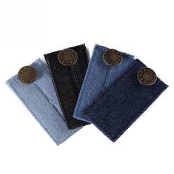 1 шт. для мужчин женщин Регулируемый джинсы для деним Extender пояс Кнопка расширения брюки девочек мотобрюки шорты