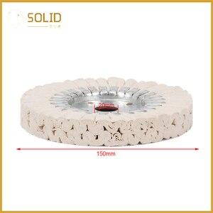 Image 5 - 6 zoll Baumwolle Atemwege Polieren Tuch Rad Polier Pad 20mm Bohrung für eine Spiegel Finish auf Aluminium Und Edelstahl polieren Werkzeug