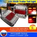 2X12 V 26 led arka lambası dönüş sinyali arka fren işık numarası plaka araba kamyon römork karavan UTE kampçılar için ATV E işareti
