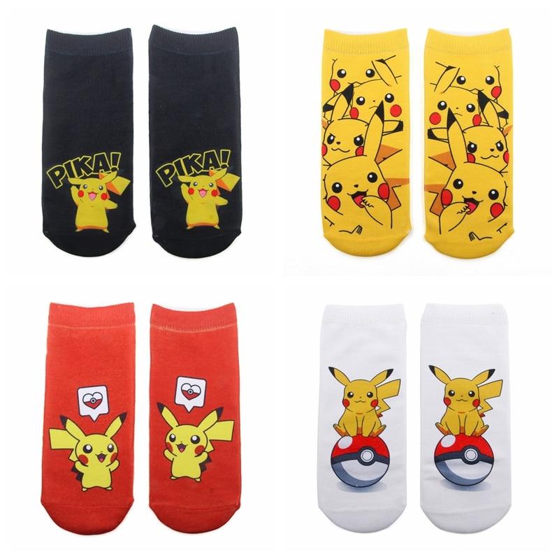 Women 2019 New 3D Printed   Socks   Funny Casual Brand Fashionable Spring Summer Unisex Pokemon Pikachu Female Short Ankle   Socks