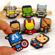 Superhero American Captain Iron Man Superman Soft Rubber Brooch Emblem pin
