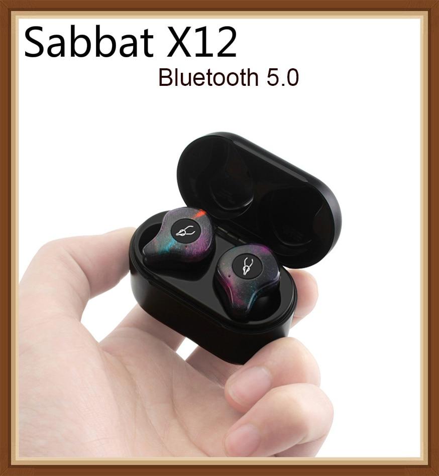 Sabbat X12 Bluetooth 5.0 Sport écouteurs étanche IPX5 casque sans fil avec bouton micro contrôle du bruit écouteurs stéréo