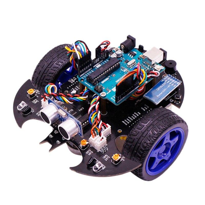 Applicable pour Arduino Uno Smart voiture Robot Kit bricolage Programmable éducation évitement d'obstacles Bluetooth télécommande voiture Us P