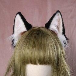 Nuovo Del Cerchio Dell'orecchio Del Cane hairband per le donne Bestia Orecchie della ragazza accessori Dei Capelli scrunchie Copricapi archi dei capelli di Lavoro A Mano