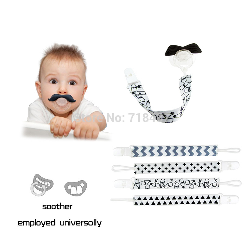 5pcs / set Alat Pacifier Instagram Moden Great Pacifier Suka Pemegang Ring Pemegang Dummy Rantaian Soother Drop-tahan