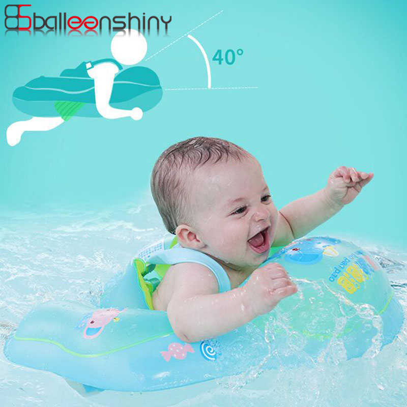 BalleenShiny Baby Swimming Ring Inflatable Infant Kids Swim Pool Accessories Circle Bathing Inflatable Double Raft Rings Toys