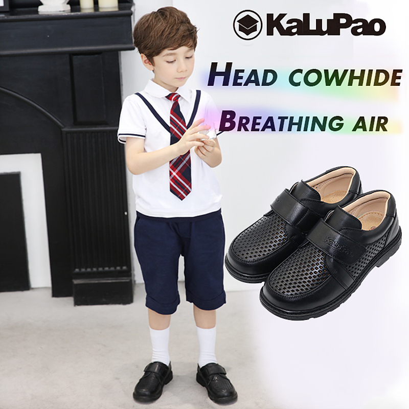 Children Leather Shoes Boys School Shoe 2018 New Genuine Leather Non-Slip Loafers Kids Flats Baby Toddler Casual Comfy Footwear comfy kids mesh children shoes sports autumn footwear baby toddler breathable girls boys sport shoe non slip kids sneakers shoes