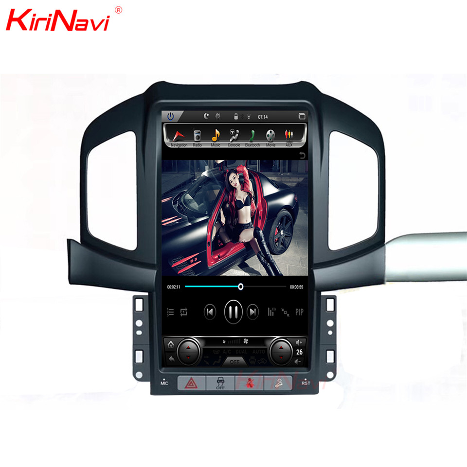 "KiriNavi 13.6"" Screen Android 7.0 For Chevrolet Captiva Car DVD Radio Audio GPS Navigation Monitor Multimedia Play"
