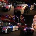 Icedriver para BMW Serie 3 Ojos de Ángel F30 DRL RGB paneles LED multicolor F31 F34 3 GT luces de circulación diurna ojo de Demonio Rojo azul