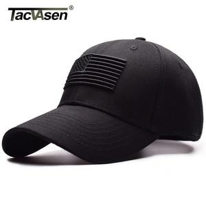 TACVASEN Tactical Baseball Cap Men Summer USA Flag Sun Protection Snapback Cap Male Fashion Casual Golf Baseball Hat Airsoft Hat(China)