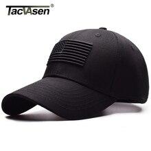 Тактическая бейсболка TACVASEN, мужская летняя кепка с защитой от солнца и флагом США, модная повседневная бейсбольная кепка для гольфа, страйкбола