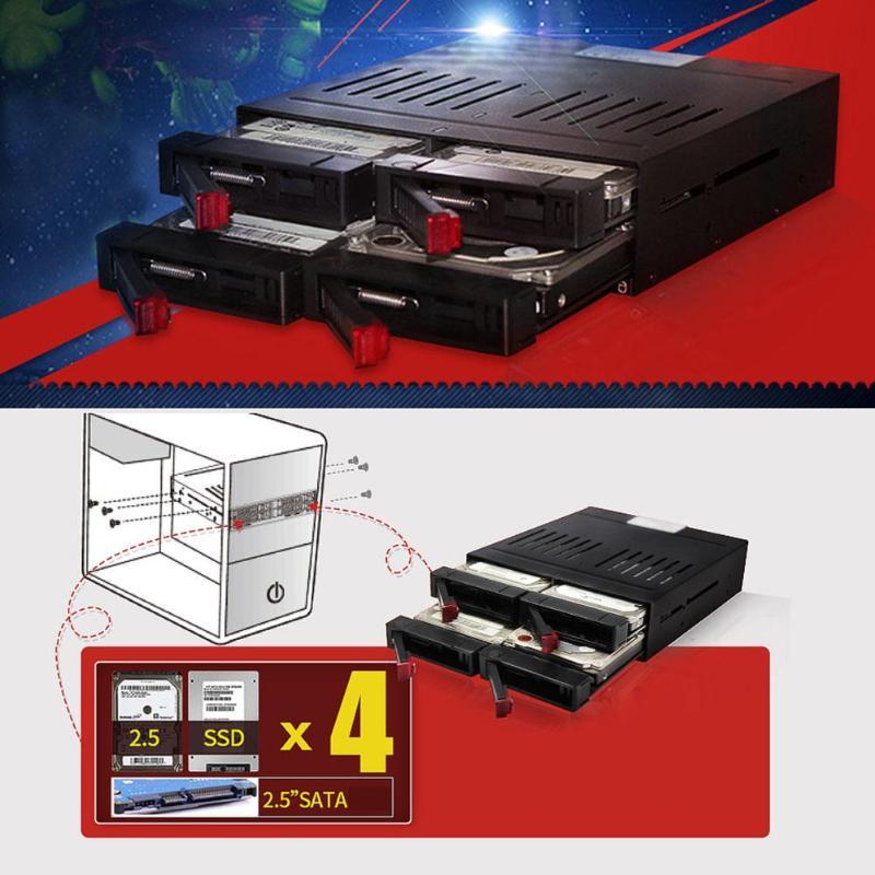 Boîtier interne 2.5 pouces disque dur SATA HDD SSD cadre baie de Rack Mobile - 2