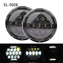 free 2x75W offroad headlight 7 inch led headlamp H4 H13 car truck kit parts for Wrangler JK Hummer Rover defender free shipping 7inch led headlight motorcycle headlamp 4x4 offroad jk cj cruiser wind rover led headlight bulb kit h4 h13 kit