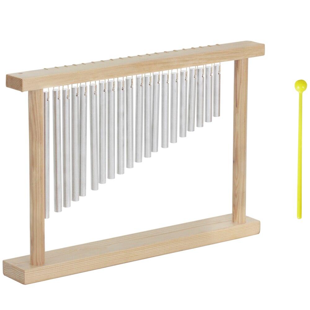 À la mode 20 Ton Campanula Dédié Percussion Carillons Éoliens En Aluminium Tubes Doux Bruit Vent Carillon Avec Cadre En Bois