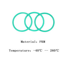 FKM CS 2.4 OD 28/29/30/31/32/33/34/35/36/37 mm Fluorine Glue Green Seal O-ring High Temperature Resistance Preservative Washer(China)