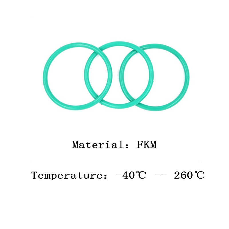 FKM CS 2.4 OD 28/29/30/31/32/33/34/35/36/37  mm Fluorine Glue Green Seal O-ring High Temperature Resistance Preservative Washer