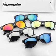 iboode Children Sunglasses Square Mirror Kids Sunglasses